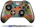 Decal Skin Wrap fits Microsoft XBOX One Wireless Controller Flowers Pattern 03