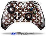 Decal Skin Wrap fits Microsoft XBOX One Wireless Controller Locknodes 01 Burnt Orange