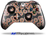 Decal Skin Wrap fits Microsoft XBOX One Wireless Controller Locknodes 02 Burnt Orange