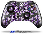 Decal Skin Wrap fits Microsoft XBOX One Wireless Controller Locknodes 02 Purple