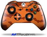 Deathrock Bats Orange - Decal Style Skin fits Microsoft XBOX One Wireless Controller
