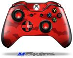 Deathrock Bats Red - Decal Style Skin fits Microsoft XBOX One Wireless Controller