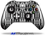 Skull And Crossbones Pattern Bw - Decal Style Skin fits Microsoft XBOX One Wireless Controller