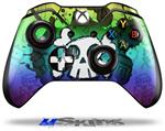 Cartoon Skull Rainbow - Decal Style Skin fits Microsoft XBOX One Wireless Controller