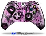 Scene Kid Sketches Pink - Decal Style Skin fits Microsoft XBOX One Wireless Controller