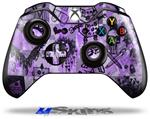 Scene Kid Sketches Purple - Decal Style Skin fits Microsoft XBOX One Wireless Controller