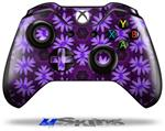 Abstract Floral Purple - Decal Style Skin fits Microsoft XBOX One Wireless Controller