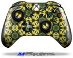 Decal Skin Wrap fits Microsoft XBOX One Wireless Controller Daisies Yellow