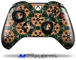 Floral Pattern Orange - Decal Style Skin fits Microsoft XBOX One Wireless Controller