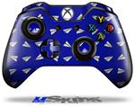 Paper Planes Royal Blue - Decal Style Skin fits Microsoft XBOX One Wireless Controller