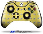 Paper Planes Yellow - Decal Style Skin fits Microsoft XBOX One Wireless Controller