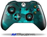 Bokeh Hearts Neon Teal - Decal Style Skin fits Microsoft XBOX One Wireless Controller