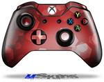 Decal Skin Wrap fits Microsoft XBOX One Wireless Controller Bokeh Hex Red