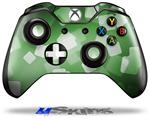 Bokeh Squared Green - Decal Style Skin fits Microsoft XBOX One Wireless Controller