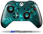 Decal Skin Wrap fits Microsoft XBOX One Wireless Controller Bokeh Music Neon Teal