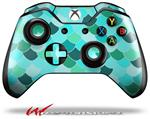 Scales Blue Green - Decal Style Skin fits Microsoft XBOX One Wireless Controller