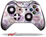 Pink Purple Lips - Decal Style Skin fits Microsoft XBOX One Wireless Controller