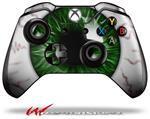 Eyeball Green Dark - Decal Style Skin fits Microsoft XBOX One Wireless Controller
