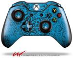 Folder Doodles Blue Medium - Decal Style Skin fits Microsoft XBOX One Wireless Controller