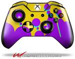 Decal Skin Wrap fits Microsoft XBOX One Wireless Controller Drip Purple Yellow Teal