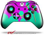 Decal Skin Wrap fits Microsoft XBOX One Wireless Controller Drip Teal Pink Yellow