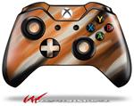 Decal Skin Wrap fits Microsoft XBOX One Wireless Controller Paint Blend Orange