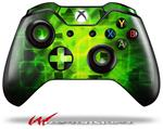 Decal Skin Wrap fits Microsoft XBOX One Wireless Controller Cubic Shards Green
