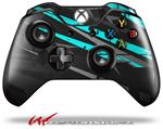 Decal Skin Wrap fits Microsoft XBOX One Wireless Controller Baja 0014 Neon Teal