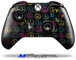 Kearas Peace Signs Black - Decal Style Skin fits Microsoft XBOX One Wireless Controller