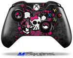 Girly Skull Bones - Decal Style Skin fits Microsoft XBOX One Wireless Controller