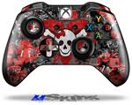 Emo Skull Bones - Decal Style Skin fits Microsoft XBOX One Wireless Controller