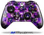 Purple Graffiti - Decal Style Skin fits Microsoft XBOX One Wireless Controller