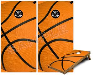 Cornhole Game Board Vinyl Skin Wrap Kit - Basketball fits 24x48 game boards (GAMEBOARDS NOT INCLUDED)