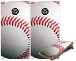 Cornhole Game Board Vinyl Skin Wrap Kit - Baseball fits 24x48 game boards (GAMEBOARDS NOT INCLUDED)