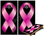 Cornhole Game Board Vinyl Skin Wrap Kit - Hope Breast Cancer Pink Ribbon on Black fits 24x48 game boards (GAMEBOARDS NOT INCLUDED)