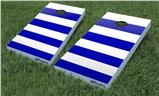 Cornhole Game Board Vinyl Skin Wrap Kit - Psycho Stripes Blue and White fits 24x48 game boards (GAMEBOARDS NOT INCLUDED)