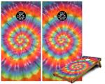 Cornhole Game Board Vinyl Skin Wrap Kit - Tie Dye Swirl 102 fits 24x48 game boards (GAMEBOARDS NOT INCLUDED)