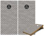 Cornhole Game Board Vinyl Skin Wrap Kit - Diamond Plate Metal 02 fits 24x48 game boards (GAMEBOARDS NOT INCLUDED)
