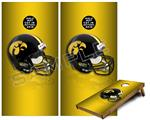 Cornhole Game Board Vinyl Skin Wrap Kit - Iowa Hawkeyes Helmet fits 24x48 game boards (GAMEBOARDS NOT INCLUDED)