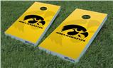 Cornhole Game Board Vinyl Skin Wrap Kit - Iowa Hawkeyes Herkey Black on Gold fits 24x48 game boards (GAMEBOARDS NOT INCLUDED)