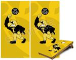 Cornhole Game Board Vinyl Skin Wrap Kit - Iowa Hawkeyes Herky on Gold fits 24x48 game boards (GAMEBOARDS NOT INCLUDED)