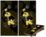 Cornhole Game Board Vinyl Skin Wrap Kit - Iowa Hawkeyes Herky on Black fits 24x48 game boards (GAMEBOARDS NOT INCLUDED)