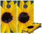 Cornhole Game Board Vinyl Skin Wrap Kit - Yellow Daisy fits 24x48 game boards (GAMEBOARDS NOT INCLUDED)