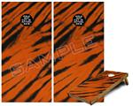 Cornhole Game Board Vinyl Skin Wrap Kit - Tie Dye Bengal Side Stripes fits 24x48 game boards (GAMEBOARDS NOT INCLUDED)