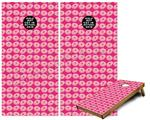 Cornhole Game Board Vinyl Skin Wrap Kit - Donuts Hot Pink Fuchsia fits 24x48 game boards (GAMEBOARDS NOT INCLUDED)