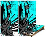 Cornhole Game Board Vinyl Skin Wrap Kit - Baja 0040 Neon Teal fits 24x48 game boards (GAMEBOARDS NOT INCLUDED)