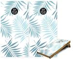 Cornhole Game Board Vinyl Skin Wrap Kit - Palms 02 Blue fits 24x48 game boards (GAMEBOARDS NOT INCLUDED)