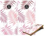 Cornhole Game Board Vinyl Skin Wrap Kit - Palms 02 Pink fits 24x48 game boards (GAMEBOARDS NOT INCLUDED)