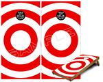 Cornhole Game Board Vinyl Skin Wrap Kit - Bullseye Red and White fits 24x48 game boards (GAMEBOARDS NOT INCLUDED)