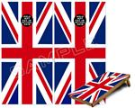 Cornhole Game Board Vinyl Skin Wrap Kit - Union Jack 02 fits 24x48 game boards (GAMEBOARDS NOT INCLUDED)